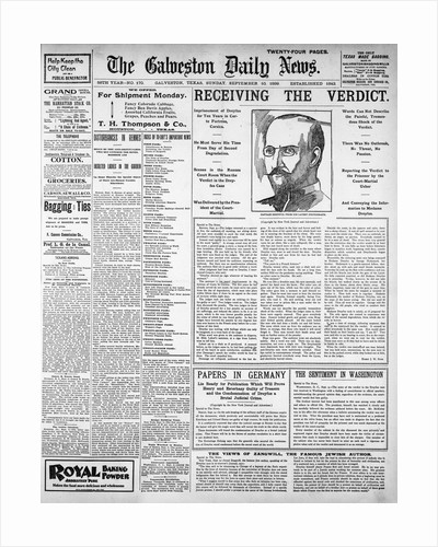Galveston Daily Newspaper by Corbis