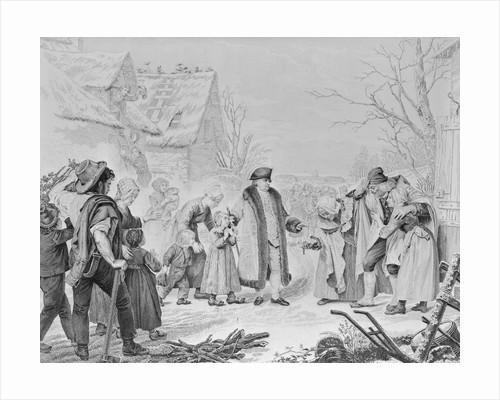 Louis XVI Dispersing Alms to Poor by Corbis