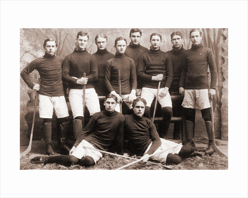 Hockey Team Posing Together by Corbis