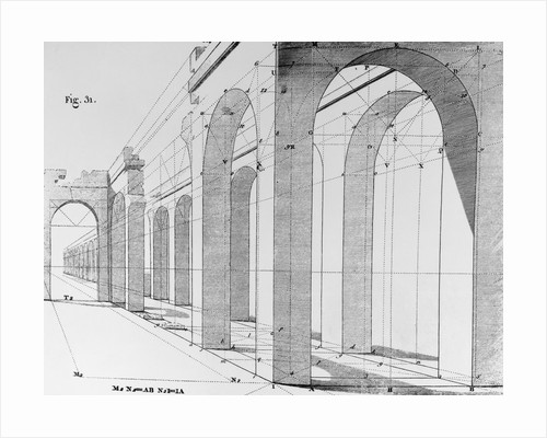 Drawing of Arcade Perspective by Corbis