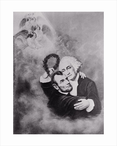 Lincoln and Washington in Heaven by Corbis