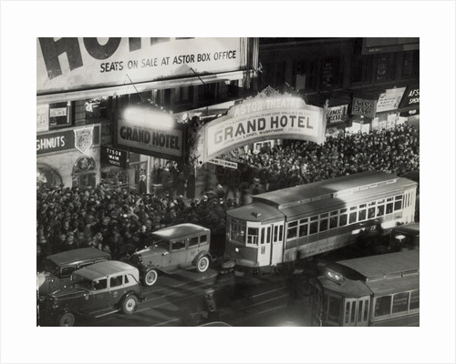 Crowds Gathering at Astor Theater by Corbis