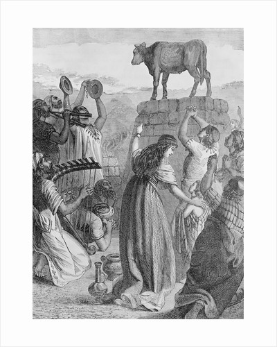 Villagers Worshipping the Golden Calf by Corbis