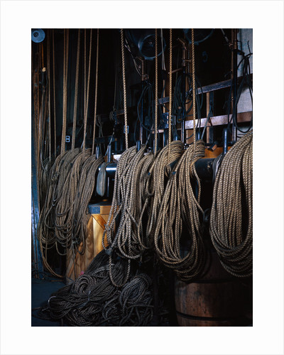 Ropes Controlling Scenery at Metropolitan Opera House by Corbis