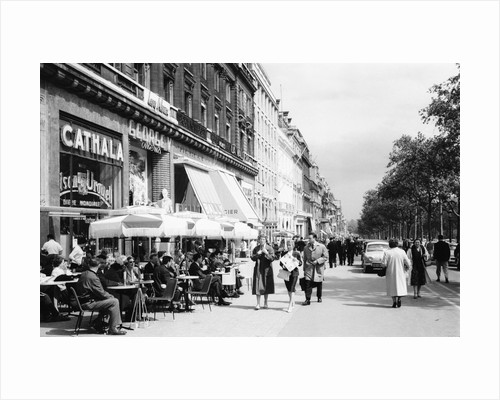 Sidewalk Cafe on the Champs-Elysees in Paris by Corbis