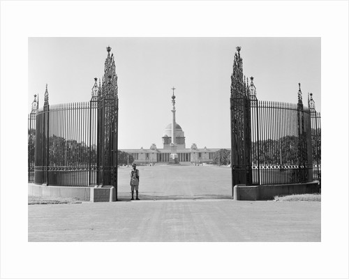 Lone Guard in Front of Viceroy's House by Corbis