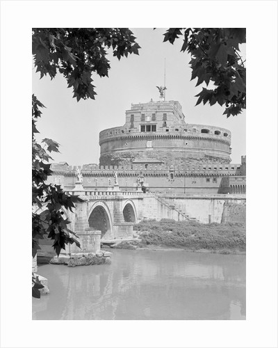 View of Castel Sant' Angelo at Saint Hadrian's Tomb Beyond Trees by Corbis