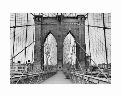 Pedestrian Walkway on the Brooklyn Bridge by Corbis