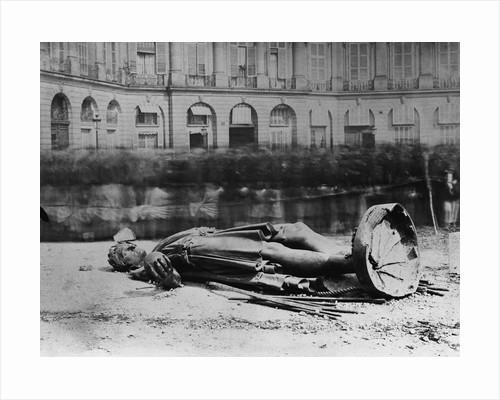 Dismantled Statue of Napoleon in Paris, 1871 by Corbis