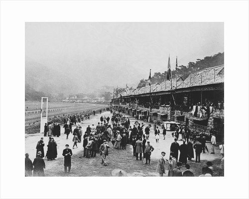 Crowds at Hong Kong Racecourse by Corbis