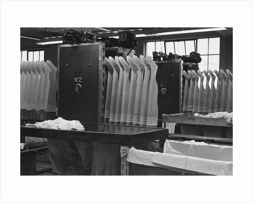 Stockings at a Clothing Factory by Corbis