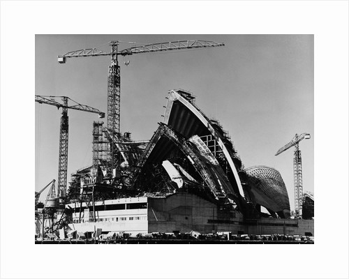 Sydney Opera House Under Construction by Corbis