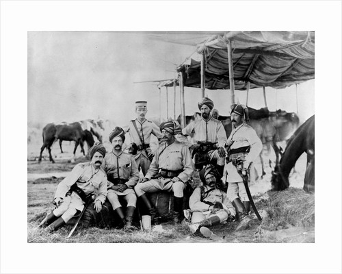 Indian British Army Officers at Sudan by Corbis