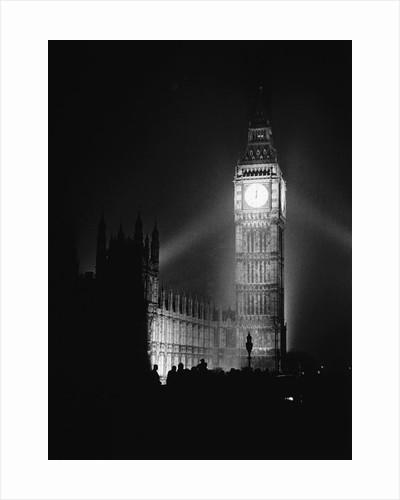 Re-illumination of Big Ben, V-E Day by Corbis