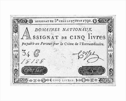 Currency of the French Revolution by Corbis