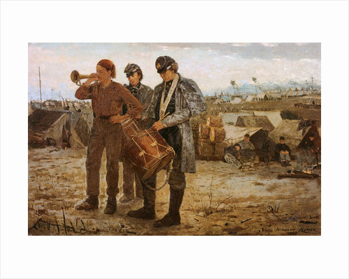 Drum and Bugle Corp, Civil War Encampment by Winslow Homer