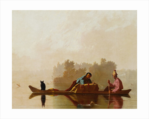 Fur Traders Descending the Missouri by George Caleb Bingham