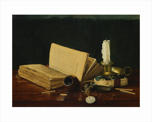 Still Life with Book and Pipe by Claude Raguet Hirst