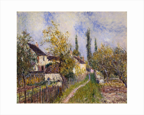 Painting of the French Countryside by Alfred Sisley