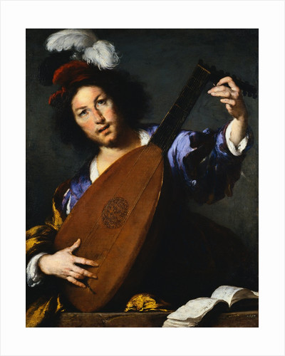 Italian Baroque Painting of Lute Player by Corbis