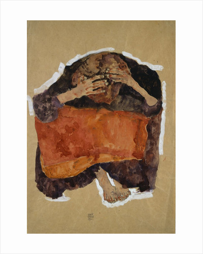 Troubled Woman by Egon Schiele