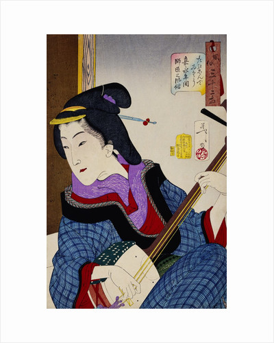 Looking as if She Is Enjoying Herself: The Appearance of a Teacher During the Kaei Period by Yoshitoshi