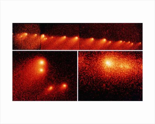 Hubble Telescope Comparison Photographs of Comet by Corbis