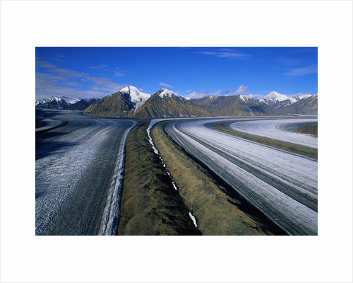 Russell Glacier and Moraines by Corbis