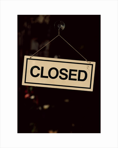 Closed Sign at Pike Place Market by Corbis