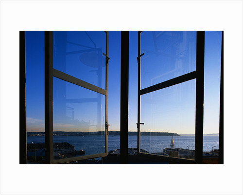 Elliott Bay from Pike Place Market Window by Corbis