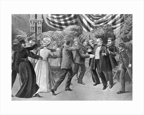 Assassination of President McKinley (Wash Drawing) by T. Dart Walker