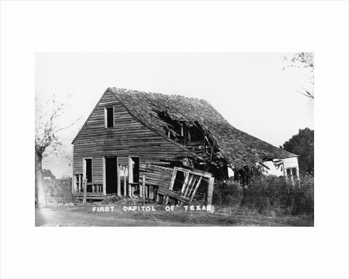 Ruins of First Capitol of Texas by Corbis