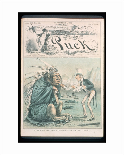 Caricature of Uncle Sam and Sitting Bull by Corbis