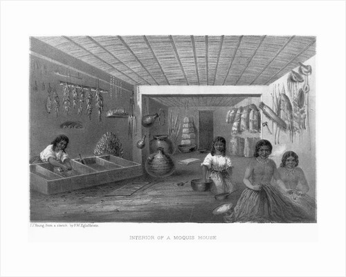 Illustration of Indian Women Preparing Food by Corbis