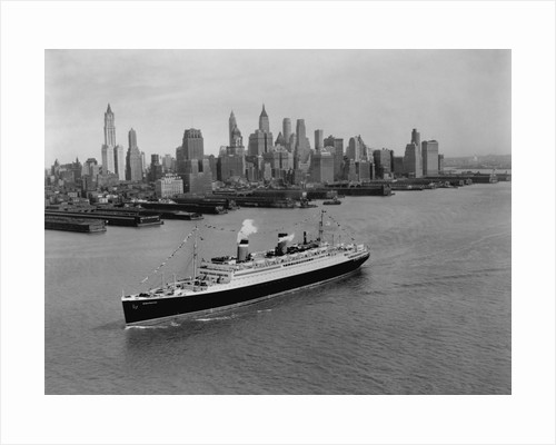 S.S. Washington on the Hudson River by Corbis