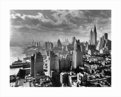 East River Waterfront and Manhattan, 1931 by Corbis