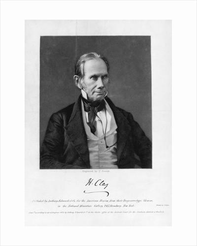 Republican Senator from Kentucky Henry Clay by Corbis