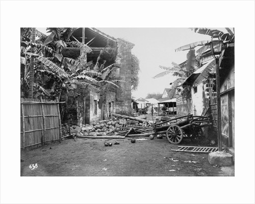 Ruined Village During Philippine Insurrection by Corbis