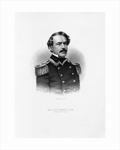Maj. Gen. Robert E. Lee Engraving by Corbis