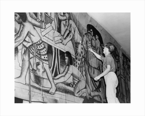 Works Progress Administration Artist Paints a Mural by Corbis