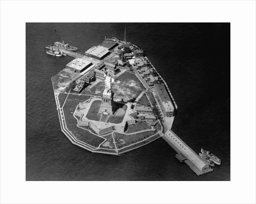 Aerial View of Statue of Liberty by Corbis