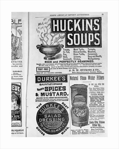 Advertisements in North American Review Advertiser by Corbis