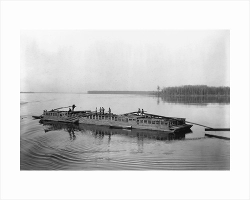 Flatboat on the Mississippi River by Corbis