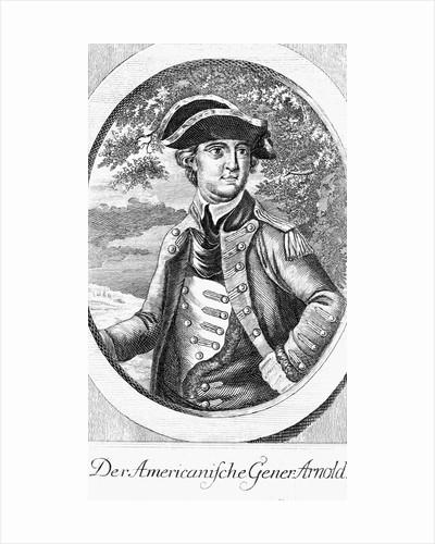 Eighteenth Century Etching of a Portrait of Benedict Arnold by Corbis