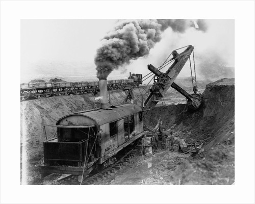 Steam Shovel Digging Ditch for Western Pacific Railroad by Corbis