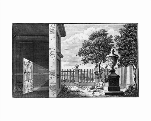 Eighteenth Century Engraving Use of the Camera Obscura by Corbis