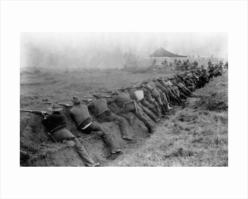 American Soldiers Practicing Shooting During Spanish-American War by Corbis