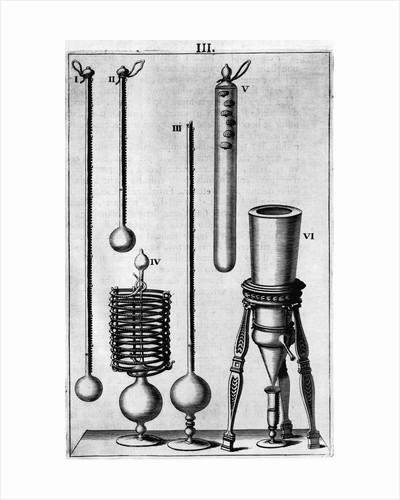 Engraving Illustration of Weather Measuring Instruments by Corbis