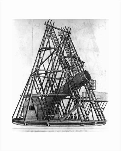 "Eighteenth Century Engraving ""View of Herschell's Forty Feet Telescope"" by Corbis"
