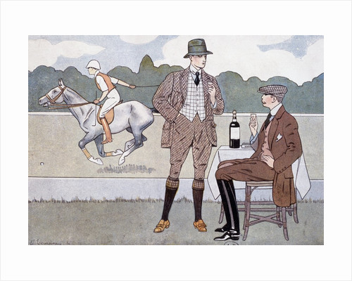 Print Depicting Spectators at a Polo Game by Corbis